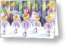Dancers In The Forest II Greeting Card
