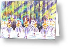 Dancers In The Forest Greeting Card by Kip DeVore