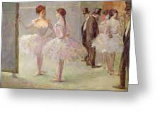 Dancers In The Wings At The Opera Greeting Card by Jean Louis Forain
