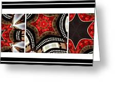 Dancing A Jig - Accordion - Pentaptych Greeting Card