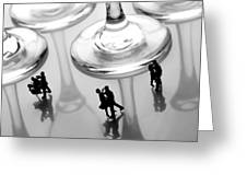 Dancing Among Glass Cups Greeting Card by Paul Ge
