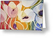 Dancing Anemones Greeting Card