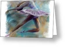 Dancing Ballerina Greeting Card