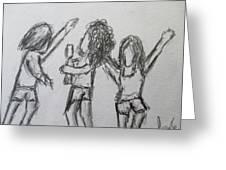 Dancing Children Greeting Card by Steve Jorde