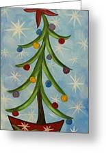 Dancing Christmas Tree Greeting Card