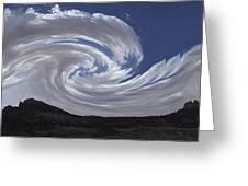 Dancing Clouds 3 Panoramic Greeting Card