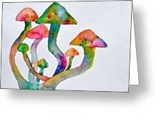 Dancing Cubensis Greeting Card