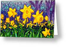 Dancing Daffodils    Cropped Greeting Card