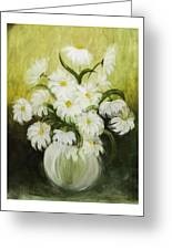 Dancing Daisies Greeting Card by Nancy Edwards