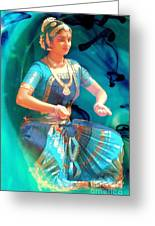 Dancing Girl With Gold Necklace Greeting Card