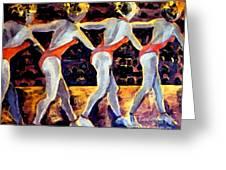 Dancing Girls Greeting Card