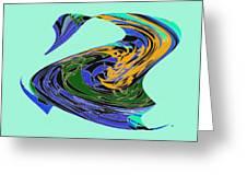 Dancing Goose Greeting Card