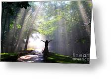 Dancing In God's Light Copyright Willadawn Photography Greeting Card
