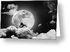 Dancing In The Moonlight Greeting Card by Alex Hardie