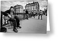 Dancing In The Streets Of Paris / Paris Greeting Card