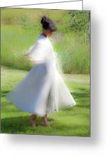 Dancing In The Sun Greeting Card by Theresa Tahara