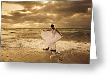 Dancing In The Surf 2 Greeting Card