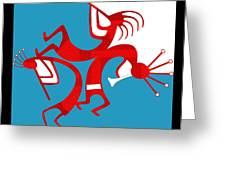Dancing Kokopellis Greeting Card