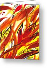 Dancing Lines Hot Abstract Greeting Card