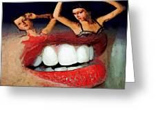 Dancing Lips Greeting Card