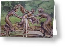 Dancing Maidens Greeting Card