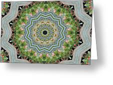 Dancing Mandevilla Blossom Kaleidoscope Greeting Card