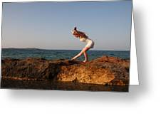 Dancing On The Rocks Greeting Card