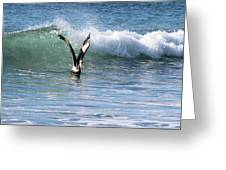 Dancing On The Waves Greeting Card