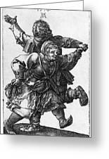 Dancing Peasants 1514 - Albrecht Durer Greeting Card