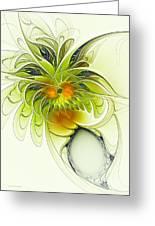 Dancing Petals Greeting Card
