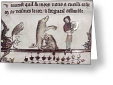 Dancing Pig, 14th Century Greeting Card