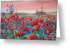 Dancing Poppies Greeting Card by Andrei Attila Mezei
