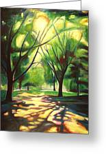 Dancing Shadows Greeting Card by Sheila Diemert