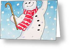 Dancing Snowman Greeting Card
