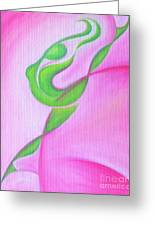 Dancing Sprite In Pink And Green Greeting Card