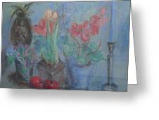Dancing Still Life In Pastel Greeting Card