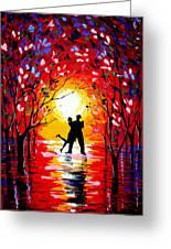 Dancing Sunset Original Painting Greeting Card