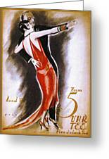 Dancing The Tango Greeting Card