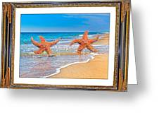Dancing To The Beat Of The Sea Greeting Card