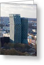 Dancing Towers Hamburg Greeting Card