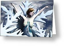 Dancing With Snowflakes Greeting Card