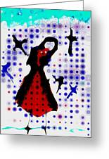 Dancing With The Birds Greeting Card