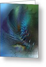 Dancing With The Wind-abstract Art Greeting Card