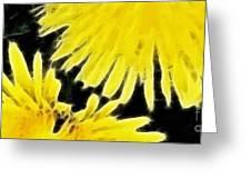 Dandelion Expressive Brushstrokes Greeting Card