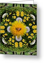 Dandelion Grove Mandala Greeting Card