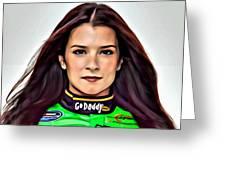 Danica Patrick Greeting Card