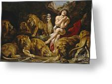 Daniel And The Lions Den Greeting Card