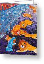 Daniel And The Lions Greeting Card