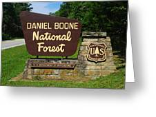 Daniel Boone Greeting Card