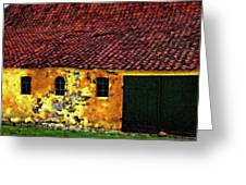 Danish Barn Impasto Version Greeting Card by Steve Harrington
